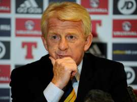 Strachan has demanded Scotland get to train on Lithuania's plastic pitch. AFP