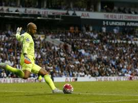 Tim Howard, pictured in action for Everton on August 29, 2015, s in the squad named by US manager Jurgen Klinsmann for upcoming friendlies against Peru and Brazil