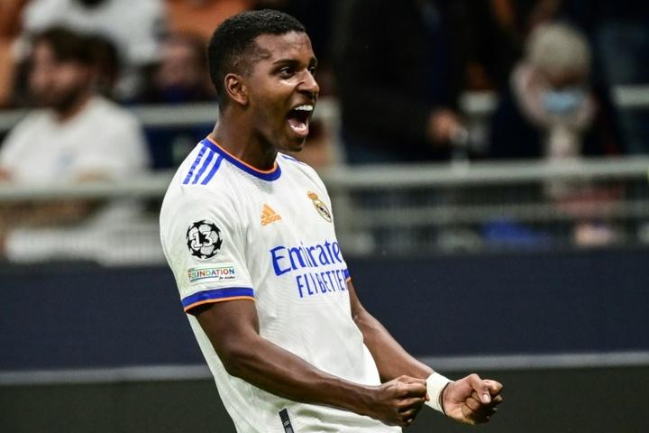 Rodrygo offre la victoire au Real Madrid in-extremis. AFP