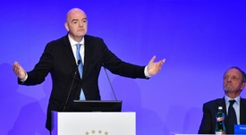 Infantino is facing opposition ahead of Friday's ruling FIFA council meeting. AFP