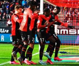 Rennes won 5-0. AFP