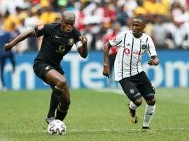 Willard Katsande (L) began Kaizer Chiefs' comeback v Polokwane. AFP