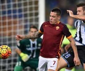 Juan Manuel Iturbe sous le maillot de la Roma en Serie A. AFP