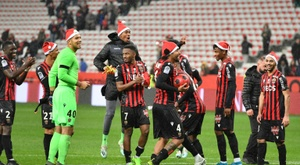 Nice have slammed fine for allowing mascots to wear Christmas hats. AFP