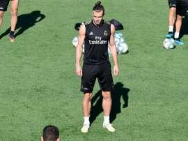 Treinamento sem novidades antes da estreia no Bernabéu. AFP