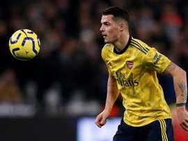 Arteta wants Xhaka to stay at Arsenal. AFP
