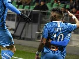 Fantastic Payet strike helps Marseille past Saint-Etienne. AFP