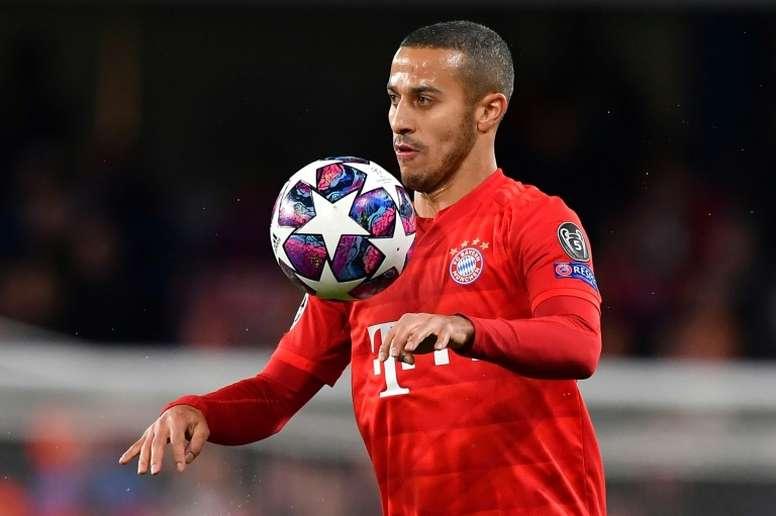 Thiago, duda ante el Eintracht. AFP
