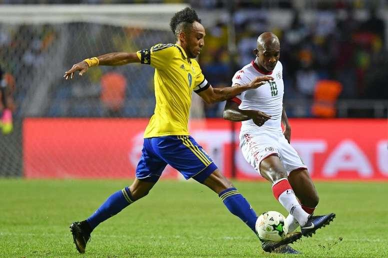 Aubameyang e um problema com a Seleção do Gabão. AFP