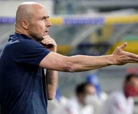 Alfred Schreuder has quit as Hoffenheim manager. AFP
