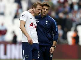 Kane scored twice in the weekend win over West Ham. AFP