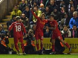 Liverpool s'est imposé de justesse contre Plymouth. AFP