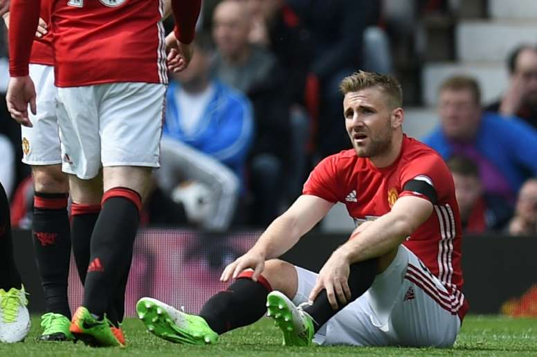 Shaw is looking for a £5million pay-off should he leave Old Trafford in January. AFP