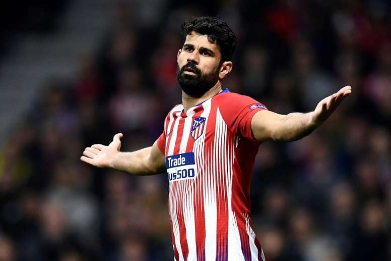 Diego Costa no se entrenó. AFP