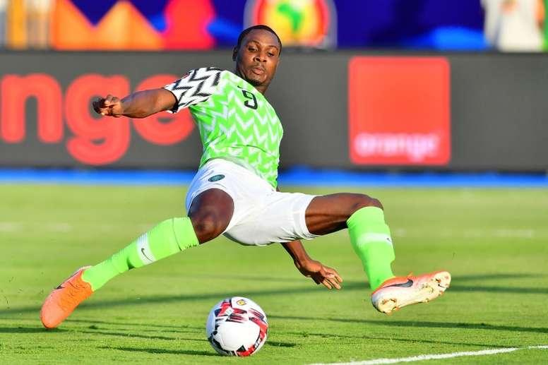 Ighalo se confie sur son arrivée à Manchester. AFP
