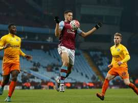 Rudy Gestede in one of his last matches with Aston Villa. AFP