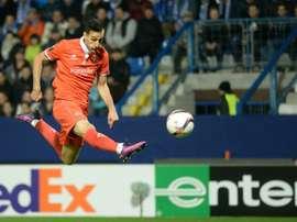 Nikola Kalinic of Fiorentina scored a brace against Sassuolo