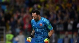 Ospina se perderá, como mínimo, el partido ante Paraguay. AFP