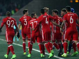 Olympiakos se medirá al Wattens en un partido amistoso. AFP