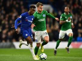 Hudson-Odoi enjoyed his first Premier League start. AFP