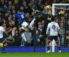 Zouma sealed Everton's win with a late header. AFP