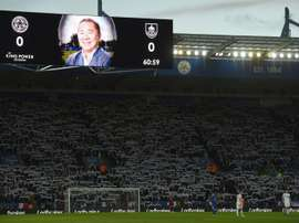 Leicester paid tribute to late owner Vichai Srivaddhanaprabha before the match against Burnley. AFP