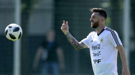 Messi est de retour. AFP