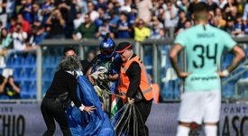 Parachutist gatecrashes Inter Milan's win at Sassuolo. AFP