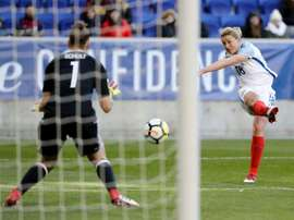 White scored twice to earn England a draw. AFP