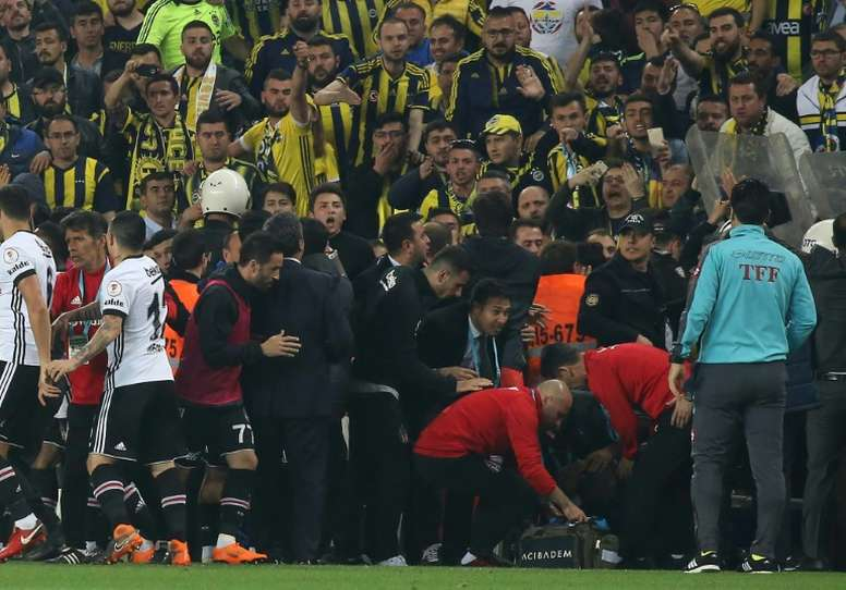 Besiktas are refusing to play the rearranged game. AFP