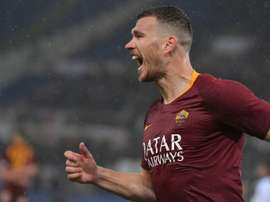 Dzeko has extended his Roma contract. AFP
