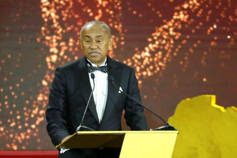 Ahmad Ahmad has been backed for a second term as CAF president. AFP