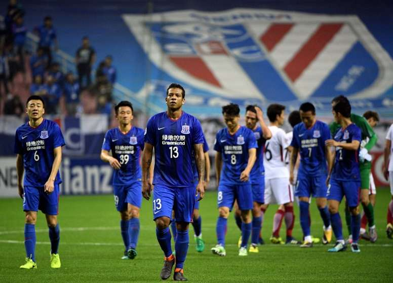 Shanghai Shenhua crashed out of the Asian competition. AFP