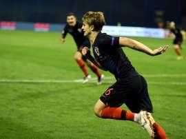 España perdió en Croacia. AFP