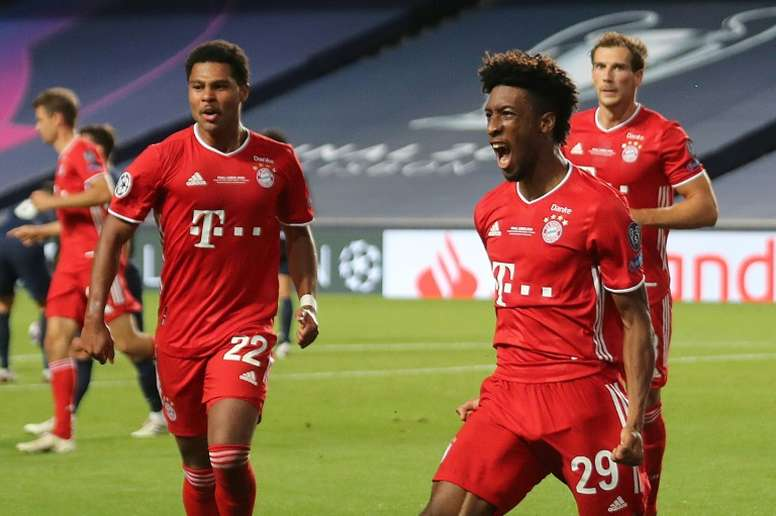 Coman, fier de son but en final de Ligue des champions. AFP
