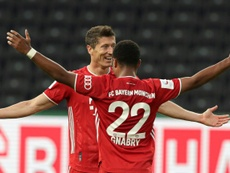 Lewandowski scored two in Bayern's 4-2 win over Leverkusen in the German Cup final. AFP