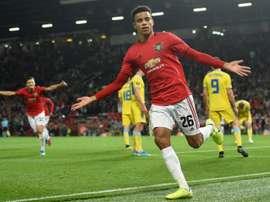 United quer renovar com Greenwood. AFP