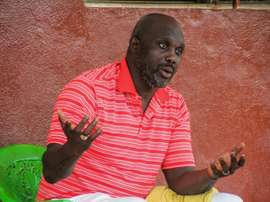 Weah is running for president in Liberia for a second time. AFP