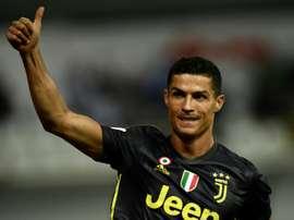 Cristiano recebe o maior salário da Serie A. AFP