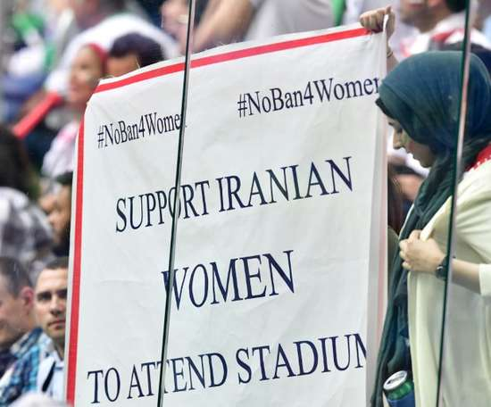 Women can now attend the matches. AFP