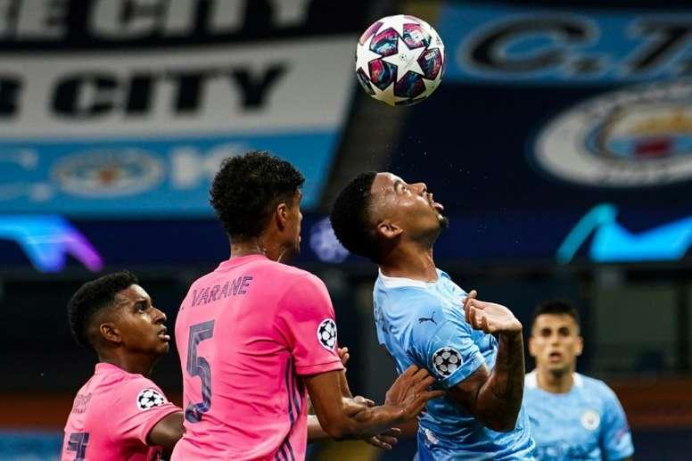Gabriel Jesus marcou gol e deu assistência contra o Real Madrid. AFP