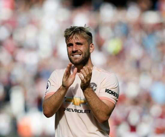 Luke Shaw, le Père Noël et Manchester United. AFP