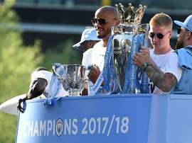De Bruyne lifted the Premier League with City last season. AFP