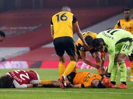 Wolves' Jimenez hopes to return after fractured skull. AFP
