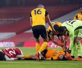 Wolves' Jimenez hopes to return after fractured skull. AFP