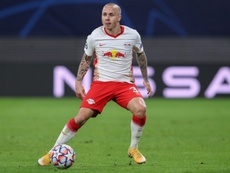 Angelino got both goals as Leipzig beat Basaksehir 2-0. AFP