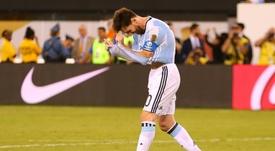 Simeone defendió a Messi. AFP