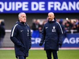 Deschamps led France to World Cup glory in 2018. AFP