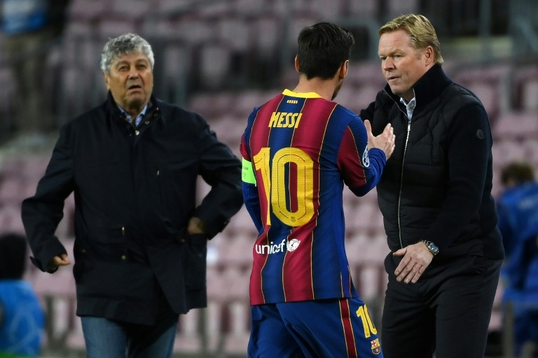 Messi, con Koeman