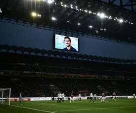 Davide Astori foi relembrado em Itália. AFP